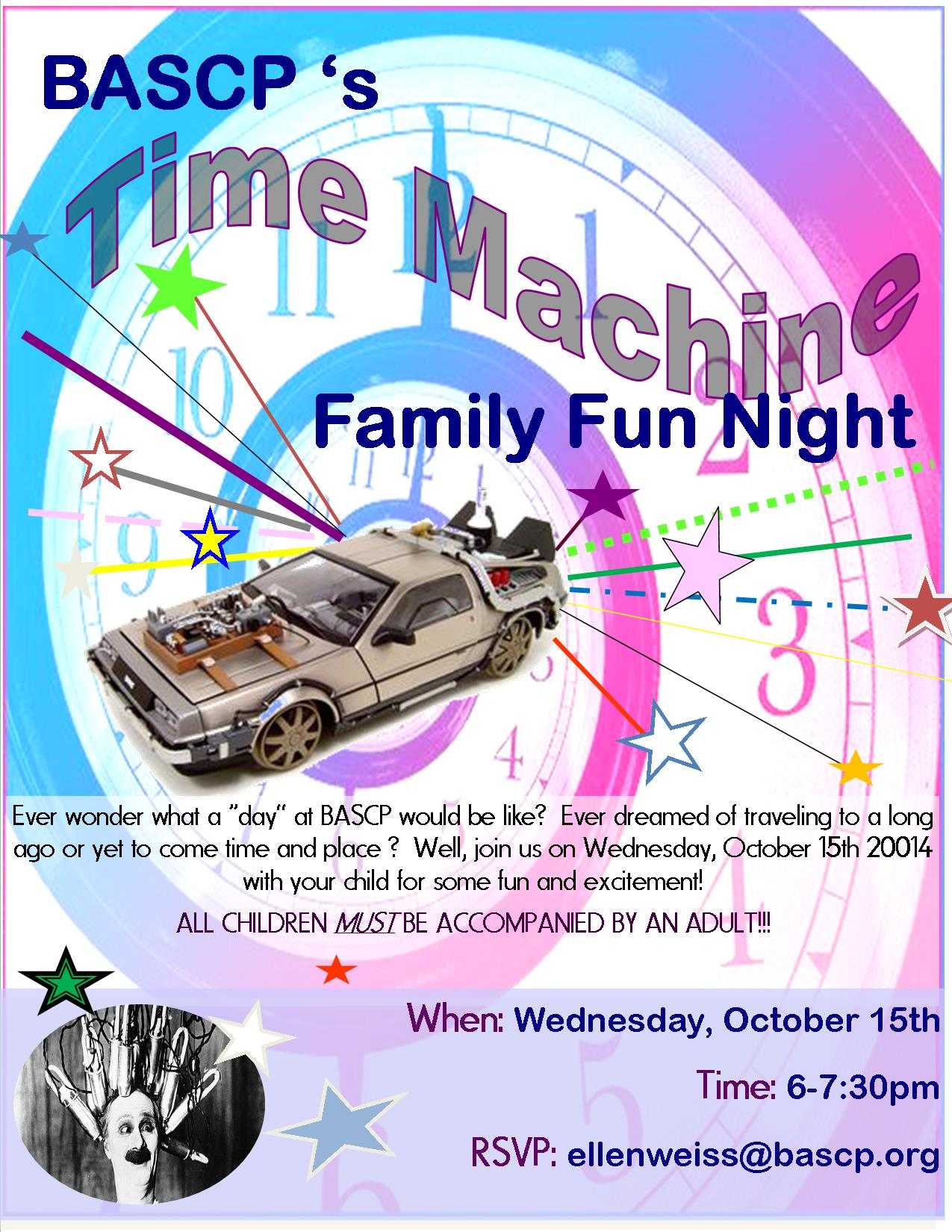 time machine flyer